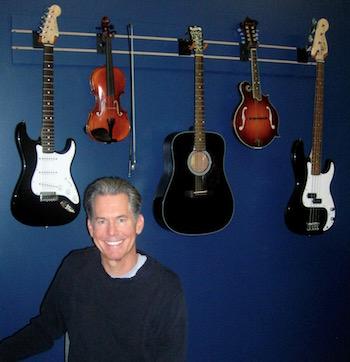 David in his teaching room